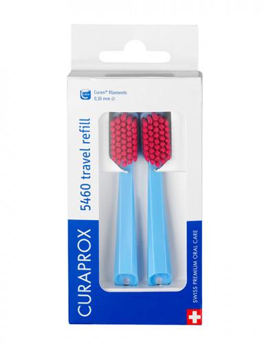 Travel set spare brush head for CS 5460, blue, 2 pcs.