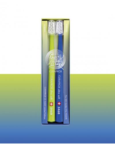 Toothbrush CS 5460 Golden Disc Ltd. Ed. lime-blue, 2 pcs.
